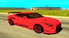 Nissan GTR R35 red for GTA San Andreas