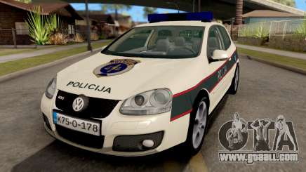 Volkswagen Golf V - BIH Police Car for GTA San Andreas