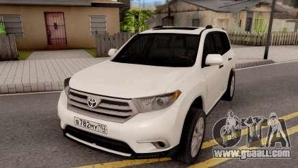 Toyota Highlander for GTA San Andreas