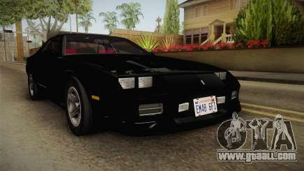 Chevrolet Camaro IROC-Z 1990 1.1.0 IVF for GTA San Andreas