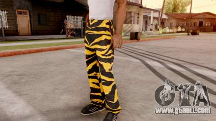 Tiger pants for GTA San Andreas