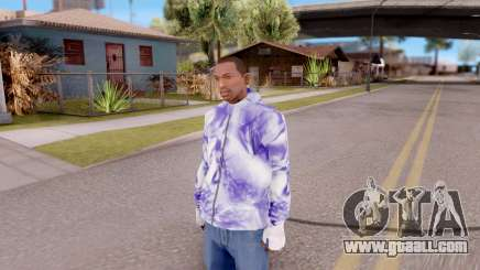 Purple sweatshirt for GTA San Andreas