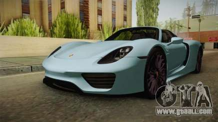 Porsche 918 Spyder for GTA San Andreas