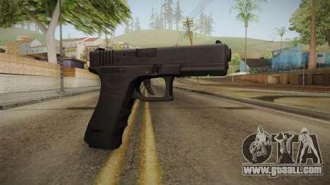 Glock 18 3 Dot Sight Cyan for GTA San Andreas