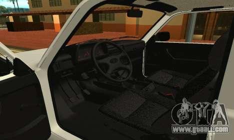 Lada Urban Armenian for GTA San Andreas inner view