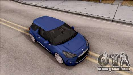Citroen DS3 2011 for GTA San Andreas right view
