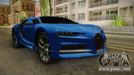 Bugatti Chiron Spyder for GTA San Andreas