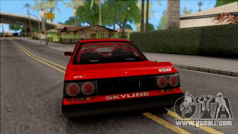 Nissan Skyline R31 v1.0 for GTA San Andreas back left view