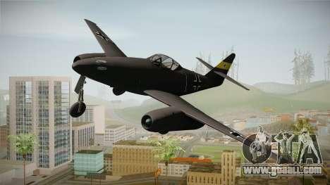 Messerschmitt Me-262 Schwalbe for GTA San Andreas back left view
