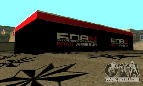BPAN Armenia garage in SF for GTA San Andreas tenth screenshot