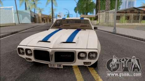 Pontiac Firebird Trans Am Coupe 1969 for GTA San Andreas