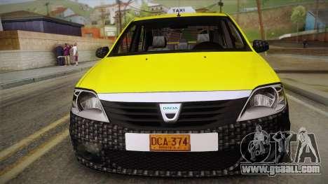 Dacia Logan Taxi for GTA San Andreas right view