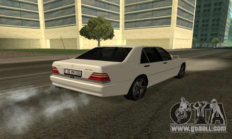 Mercedes-Benz S600 Armenian for GTA San Andreas left view