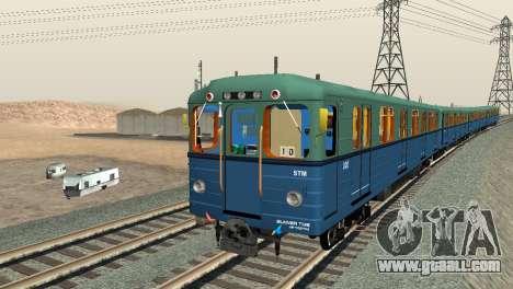 Metrostav type E for GTA San Andreas