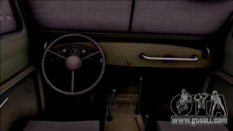 GAZ 69A for GTA San Andreas inner view