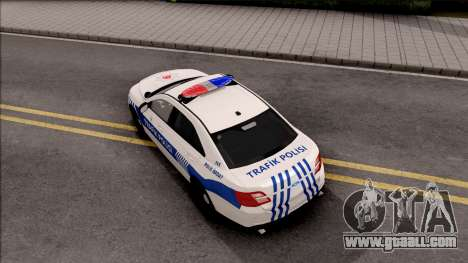 Ford Taurus Turkish Traffic Police for GTA San Andreas back view