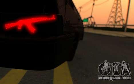 Lada 2114 Samara for GTA San Andreas inner view