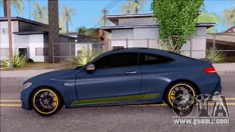 Mercedes-Benz C63S AMG Coupe 2016 v3 for GTA San Andreas left view