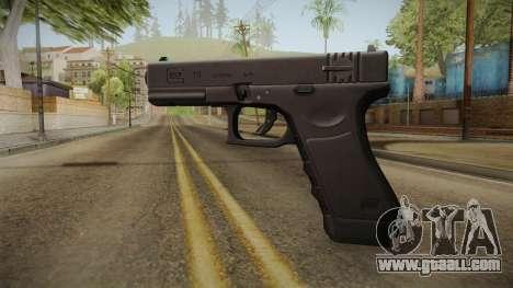 Glock 18 3 Dot Sight Cyan for GTA San Andreas second screenshot
