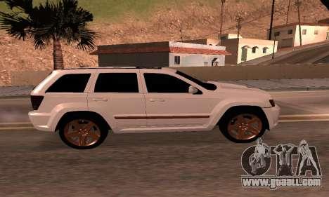 Jeep Grand Cherokee SRT8 Armenian for GTA San Andreas back left view