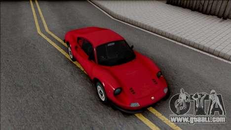 Ferrari Dino 264 1969 for GTA San Andreas right view
