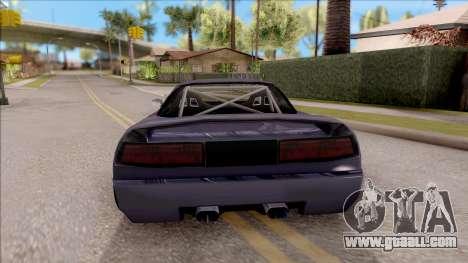 BlueRay Infernus R v1 for GTA San Andreas back left view