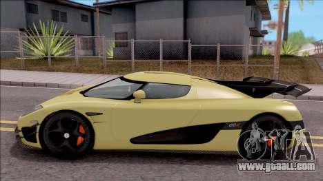 Koenigsegg CCX for GTA San Andreas left view