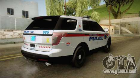 Ford Explorer 2012 YRP for GTA San Andreas back left view