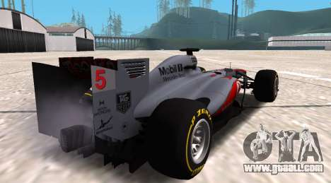 McLaren MP4-28 2013 for GTA San Andreas left view