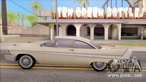 Plymouth Belvedere 1958 IVF for GTA San Andreas left view