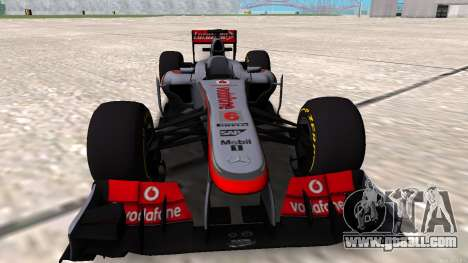 McLaren MP4-28 2013 for GTA San Andreas right view