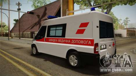 Ford Transit Ambulance of the city of Kharkov for GTA San Andreas right view