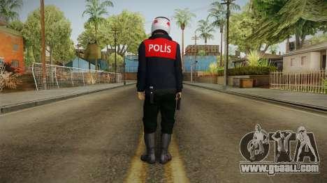 Turkish Police Motorcycle Officer for GTA San Andreas third screenshot
