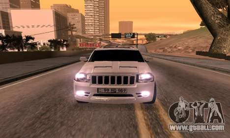 Jeep Grand Cherokee SRT8 Armenian for GTA San Andreas right view