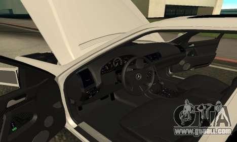 Mercedes-Benz S600 Armenian for GTA San Andreas back view
