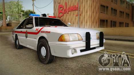 Ford Mustang SSP 1993 YRP for GTA San Andreas right view