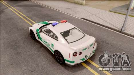 Nissan GT-R R35 Dubai High Speed Police for GTA San Andreas back view