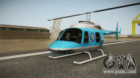 Serbian Police Helicopter for GTA San Andreas left view