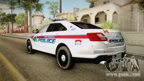 Ford Taurus 2014 YRP for GTA San Andreas back left view
