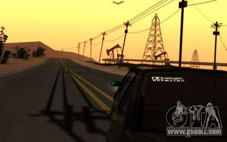 Lada 2114 Samara for GTA San Andreas upper view