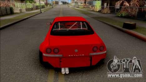Nissan Skyline R33 Rocket Bunny v3 for GTA San Andreas