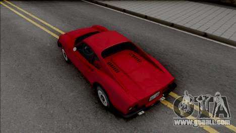 Ferrari Dino 264 1969 for GTA San Andreas back view