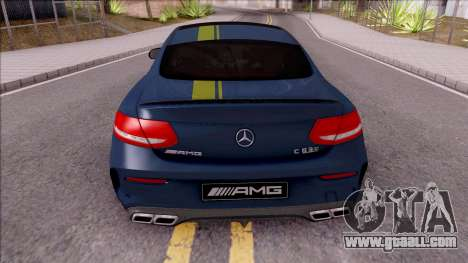 Mercedes-Benz C63S AMG Coupe 2016 v3 for GTA San Andreas back left view