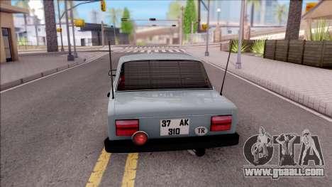 Tofas Serce Eti̇ket for GTA San Andreas back left view