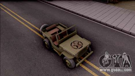 Jeep Willys MB Military for GTA San Andreas right view