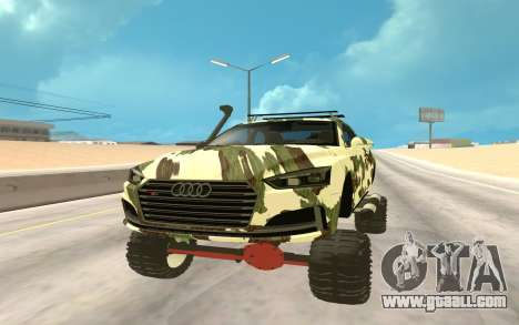 Audi S5 Off Road for GTA San Andreas back view