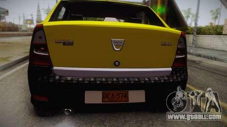 Dacia Logan Taxi for GTA San Andreas back view