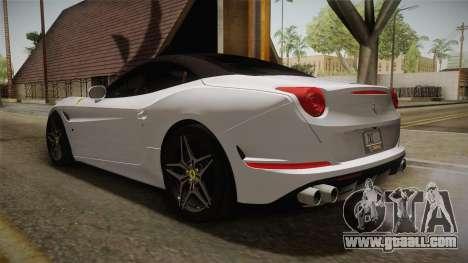 Ferrari California T for GTA San Andreas back left view