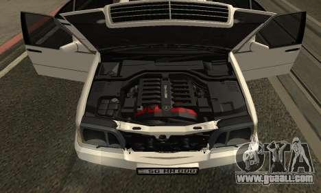 Mercedes-Benz S600 Armenian for GTA San Andreas inner view