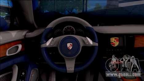 Porsche Panamera Turbo 2009 for GTA San Andreas inner view